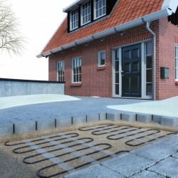 Covor degivrare exterioara 2 m²-600 wați (0,5x4m)